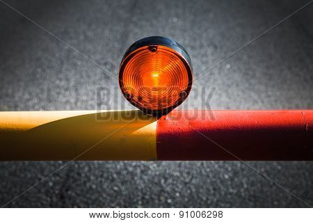 Red Light On The Automatic Barrier