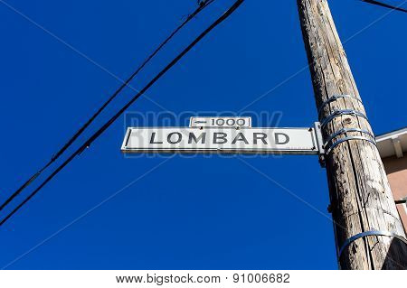 Direction Sign Under Blue Sky At San Francsico