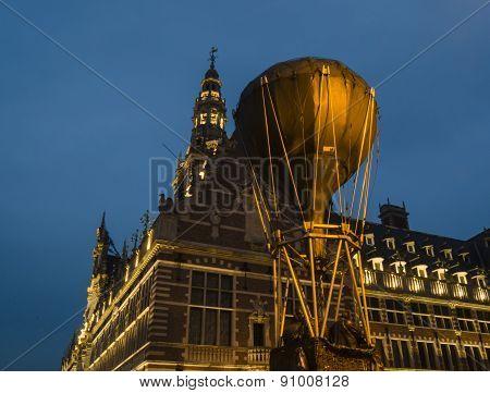 Leuven night city view