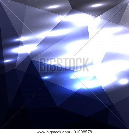 Dark Blue Shiny Background