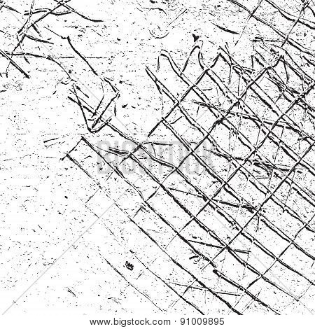 Grid Damaged Abstract