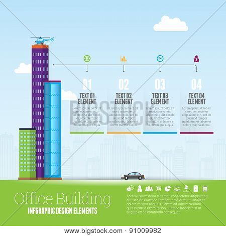Office Building Infographic