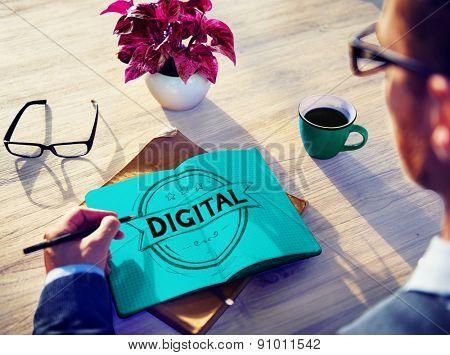 Digital Technology Electronic Modern Internet Concept