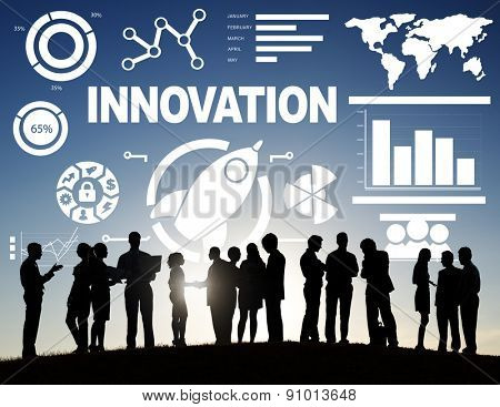 Business People Meeting Creativity Growth Success Innovation Concept