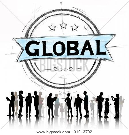 Global Globalization Community Communication Concept