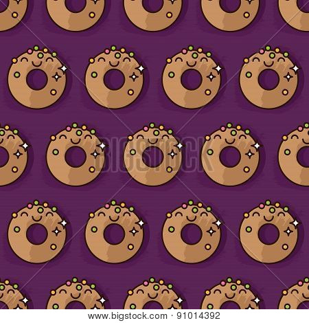 Kawaii Donut Pattern