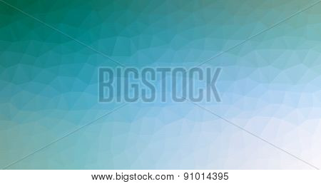 Abstract Geometric Background Of Blue Triangular Polygons