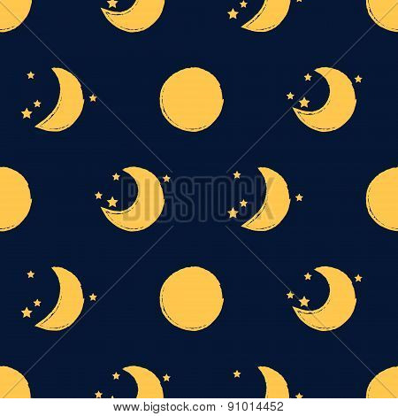 Moon Seamless Pattern