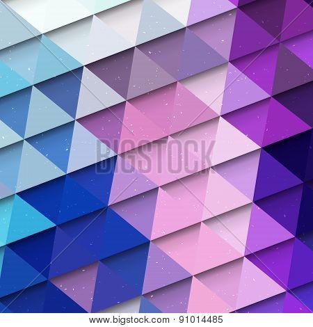 Multicolored Triangle Background