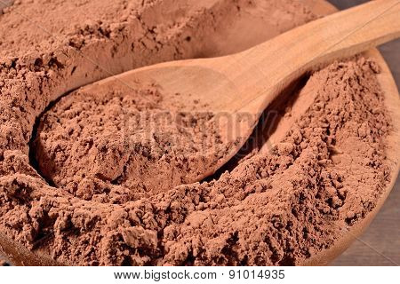 Cocoa Powder In A Spoon