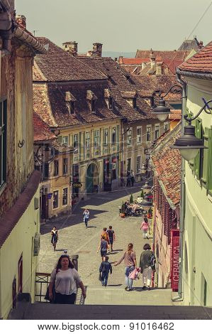 Medieval Lower Town, Sibiu, Romania