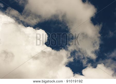 Thick White Cloud on The Blue Sky