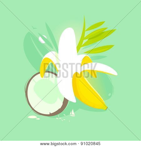 Banana and coconut