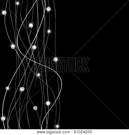 Abstract Luxury Black Diamond Background Vector Illustration
