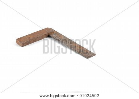 Tool - Vintage Metal Square Isolated On White Background