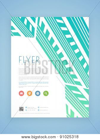 Creative professional business flyer, brochure or template design.
