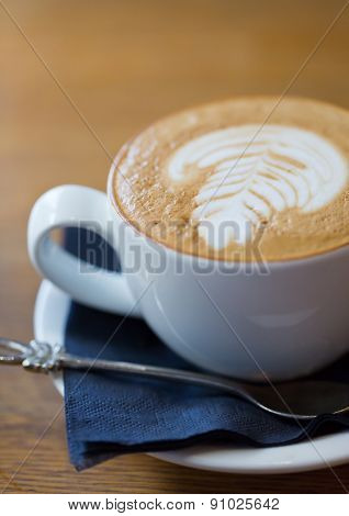 A Closeup Photo Of A Flat White