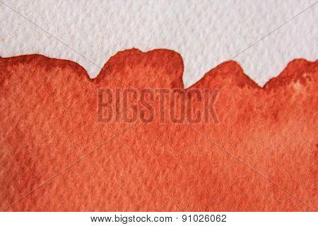 Burnt Orange Watercolor 2