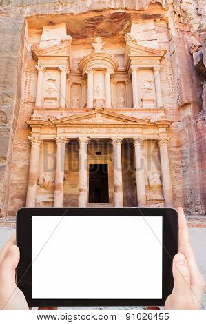 Photo Of Treasury Monument In Antique City Petra