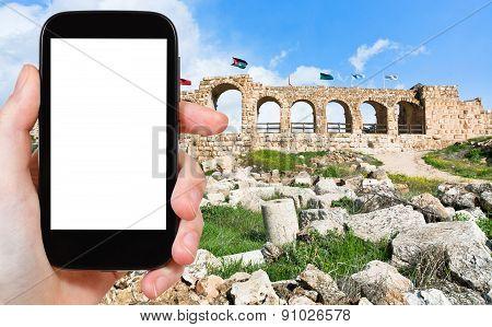 Tourist Photographs Of City Of Gerasa In Jordan