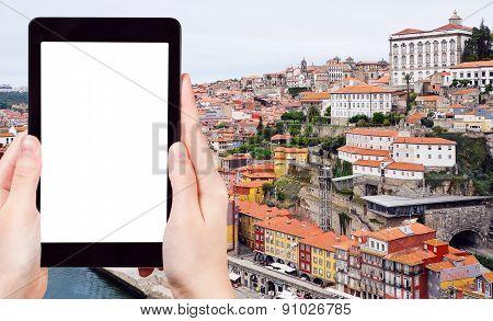 Tourist Photographs Of Center Of Porto City
