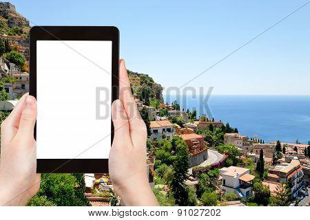 Tourist Photographs Of Taormina City, Sicily
