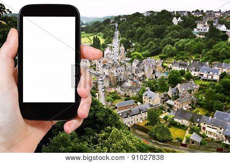 Tourist Photographs Of Town Dinan, France