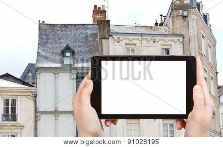 Tourist Photographs Of Facades Of Medieval Houses