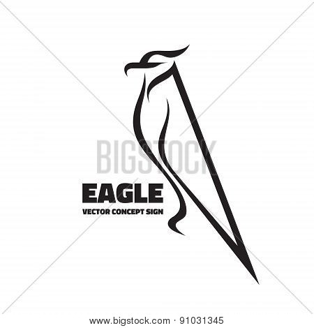 Eagle - vector logo sign concept in classic graphic style