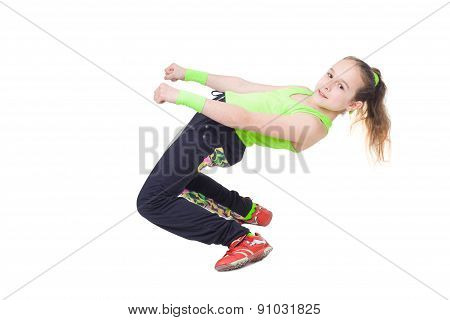 Happy Little Girl Dancing Hip-hop