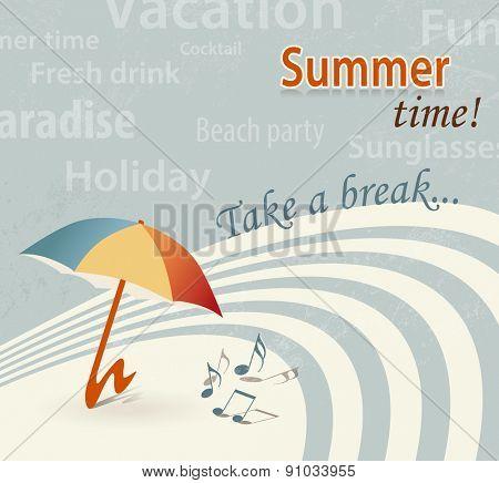 Retro summer background - summertime - take a break
