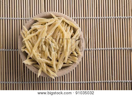 Raw Pasta Called Trofie