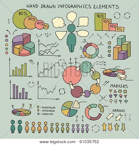 Doodle Infographics Elements
