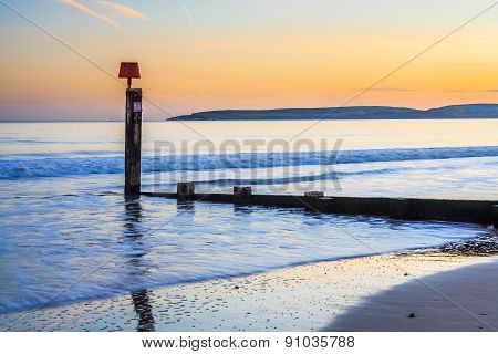 Bournemouth Beach Sunset Orset