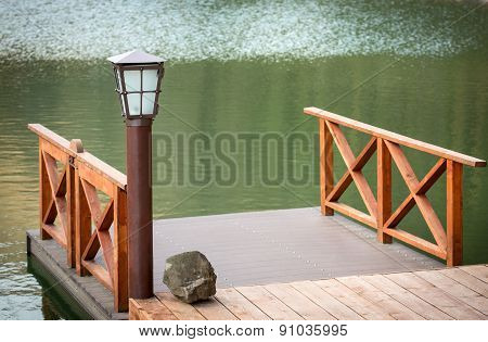 Wooden Jetty With Lamp