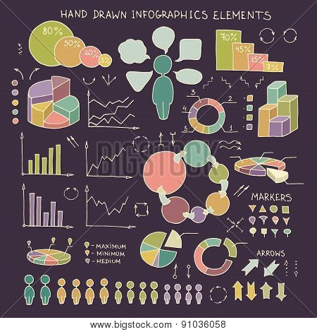 Doodle Business  Infographics Elements