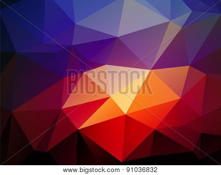 Dark Blue Light Red Triangular Background