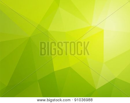 Simple Light Bio Green Triangular Background