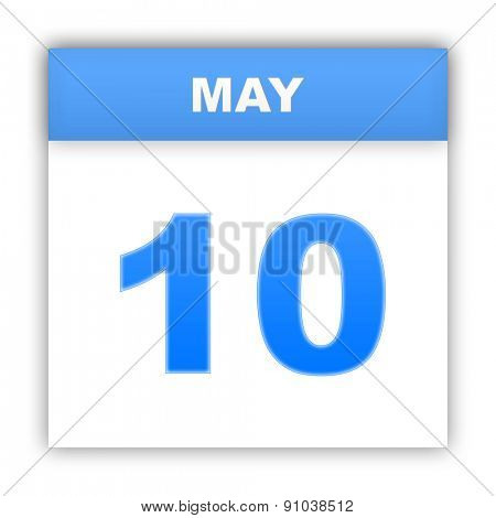 May 10. Day on the calendar. 3d