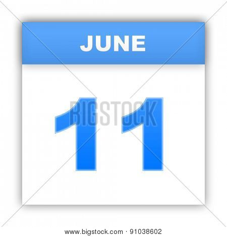 June 11. Day on the calendar. 3d