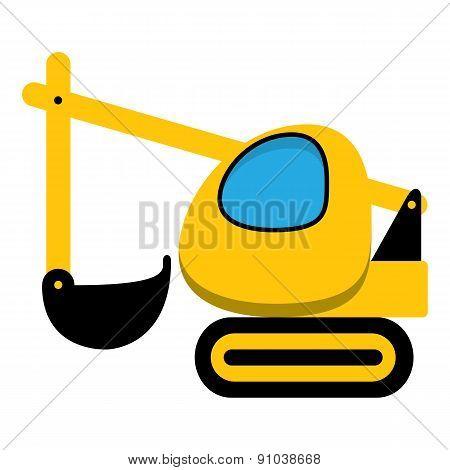 Excavator icon.