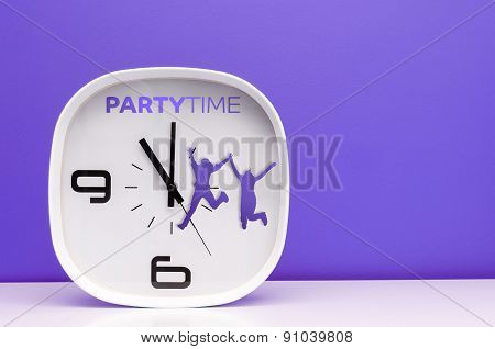 Party time White Clock