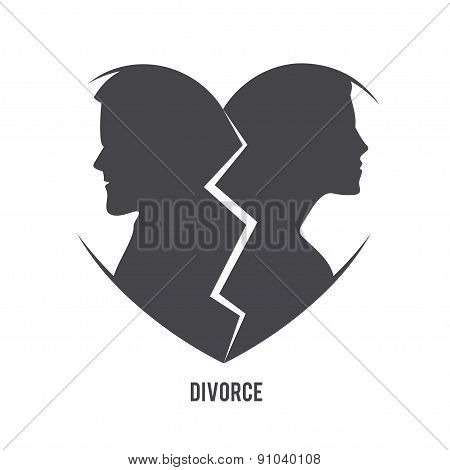 Divorce visual concept