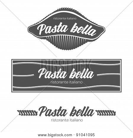 Italian pasta restaurant badges