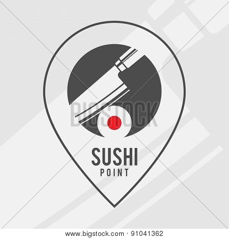 Sushi point - logo for the shop