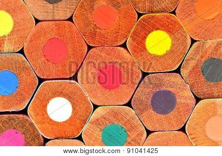 Pencil,colour,honeycomb,concept