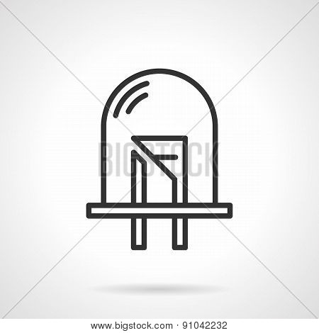 Dot diode black line vector icon
