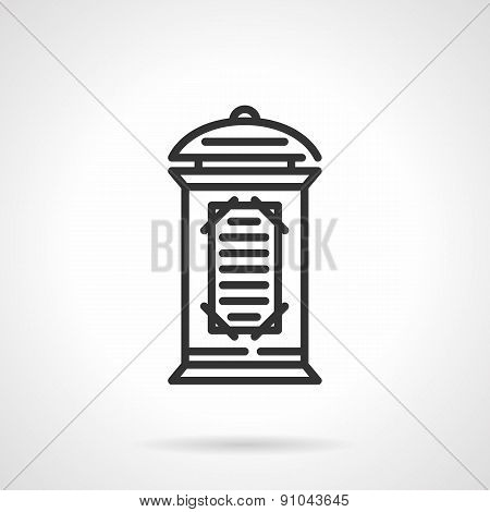 Advertising column black line vector icon