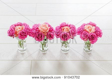 vase with roses
