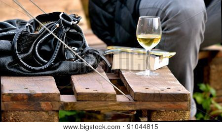 Wine,glass,bag,chair,party